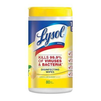 Lingettes désinfectantes Lysol