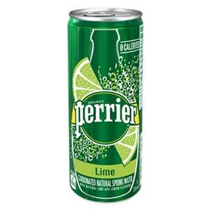 PERRIER® Eau de source naturelle | Lime (35 canettes)
