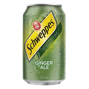 Soda gingembre Schweppes (12 canettes)